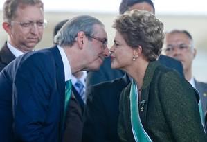 Eduardo Cunha e a presidente Dilma Rousseff Foto: Pedro Ladeira/16-04-2015 / Folhapress