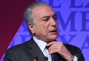 O vice-presidente Michel Temer durante evento em São Paulo Foto: Marcos Alves/Agência O Globo