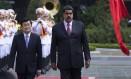 Junto ao par vietnamita, Truong Tan Sang, Maduro denunciou uma tentativa de assassinato Foto: Hau Dinh / AP