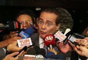 O Presidente do Senado e do Congresso Renan Calheiros (PMDB-AL) Foto: Ailton de Freitas / Agência O Globo