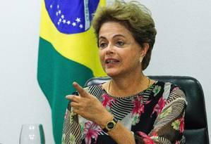 Dilma participa de reunião com líderes da base aliada no Congresso Foto: ANDRE COELHO / Agência O Globo