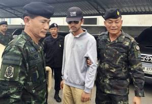 Suspeito foi detido na província de Sa Kaeo, a leste de Bangcoc, na fronteira com o Camboja Foto: HANDOUT / REUTERS