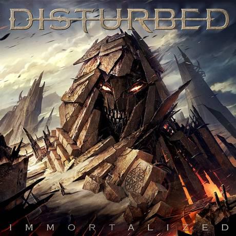 Capa do disco 'Imortalized', do Disturbed Foto: Divulgação