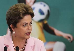 A presidente Dilma Rousseff Foto: Jorge William/27-08-2015 / Agência O Globo