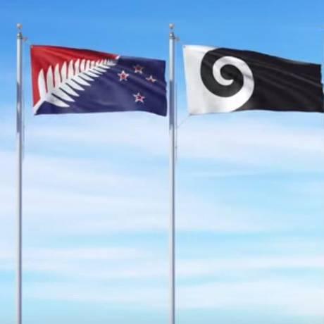 Próxima bandeira da Nova Zelândia já tem quatro desenhos finalistas para votação popular. Foto: Reprodução/Governo da Nova Zelândia