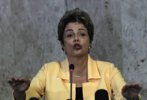 BSB-Brasília-Brasíl - 02/09/2015 - PA - A presidente Dilma Roussef, durante entrevista depois de Recepção à Delegação Brasileira de WorldSkills 2015. Foto: Givaldo Barbosa - Agência O Globo Foto: Givaldo Barbosa / Agência O Globo