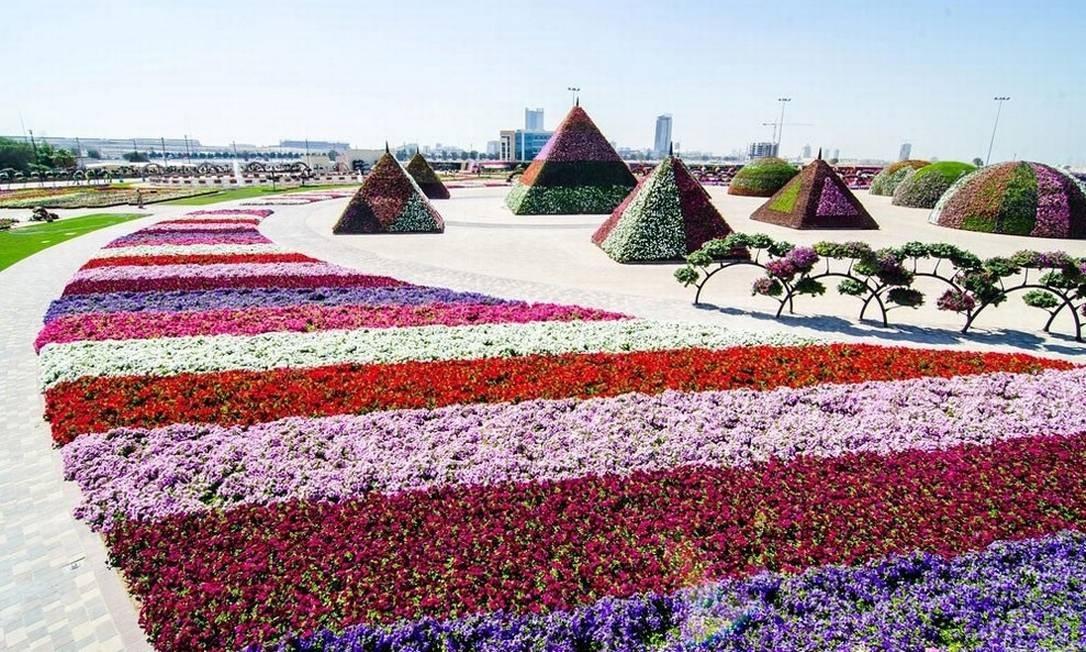 O Dubai Miracle Garden é um dos candidatos a Nova Maravilha Moderna da Humanidade. Merece o seu voto? Foto: Reprodução/fubiz.net