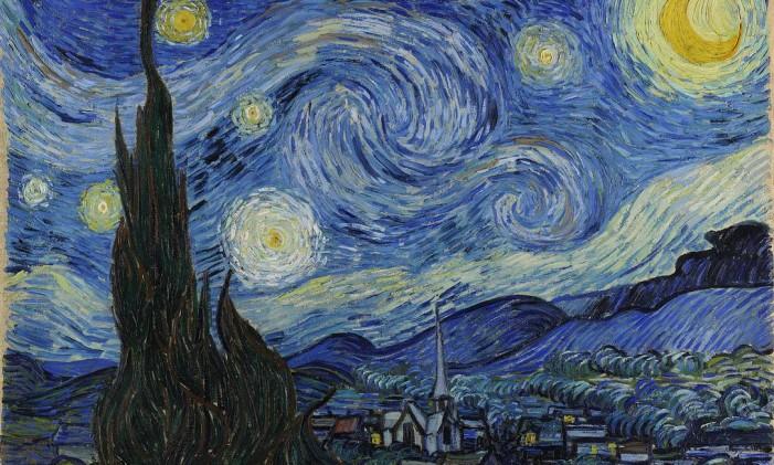 """""""Noite estrelada"""", de Vincent van Gogh (1889) Foto: Divulgação / Turismo da Holanda"""