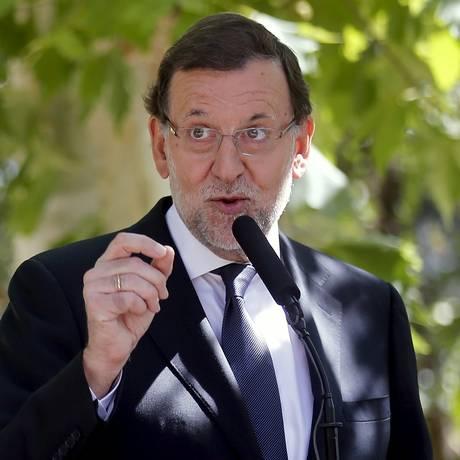 Premier espanhol, Mariano Rajoy, no Palácio Moncloa, em Madri Foto: ANDREA COMAS / REUTERS