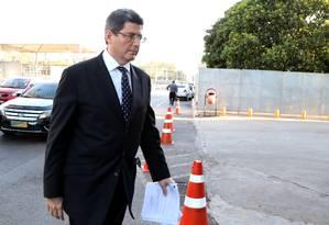 O ministro da Fazenda, Joaquim Levy, participou de reunião com Dilma no Palácio do Planalto Foto: Ailton de Freitas / Agência O Globo