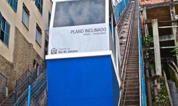 Plano inclinado do Pavão-Pavãozinho, em Copacabana Foto: Foto: / Divulgação Secorserva