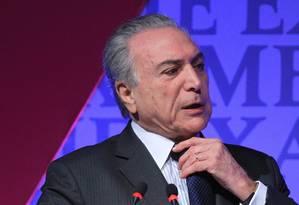O vice-presidente Michel Temer Foto: Marcos Alves / Agência O Globo 31/08/2015