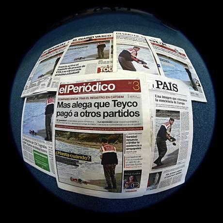 Principais jornais europeus foram a favor da publicação das imagens Foto: PIERRE-PHILIPPE MARCOU / AFP