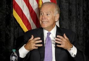 Vice-presidente Joe Biden disse que ainda não pode afirmar se vai ou não concorrer Foto: JOE SKIPPER / REUTERS