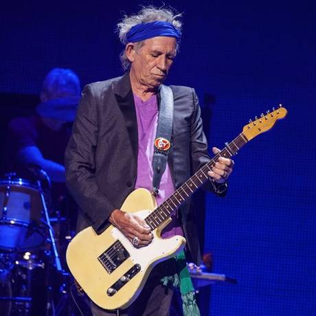 O guitarrista Keith Richards durante apresentação dos Stones Foto: AP