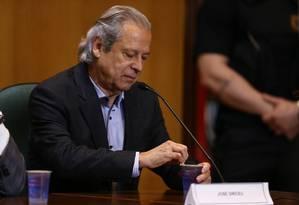 O ex-ministro José Dirceu Foto: Geraldo Bubniak/31-8-2015