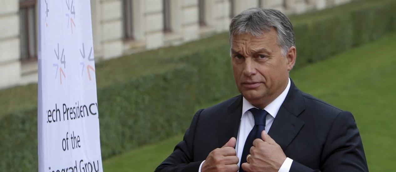 Premier húngaro, Viktor Orban, em encontro extraordinário em Praga Foto: DAVID W CERNY / REUTERS