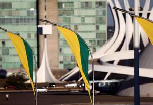 Preparativos para as comemorações do 7 de Setembro, na Esplanada dos Ministérios Foto: Agência O Globo / Jorge William