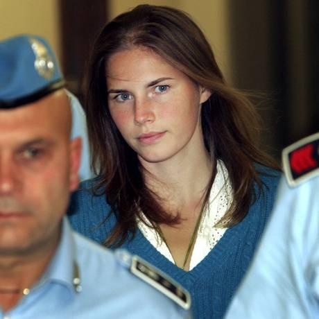 Amanda Knox foi condenada, liberada, condenada de novo e enfim solta em 2015 Foto: Pier Paolo Cito / AP
