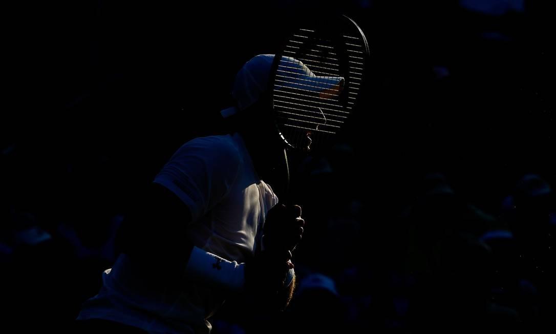O inglês Andy Murray observa sua devolução AL BELLO / AFP