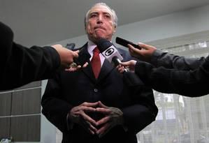 O vice-presidente Michel Temer Foto: Marcos Alves/ 27-8-2015