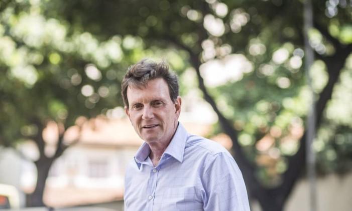 O senador Marcelo Crivella, que foi ministro da Pesca Foto: Aline Massuca/Valor/15-10-2014