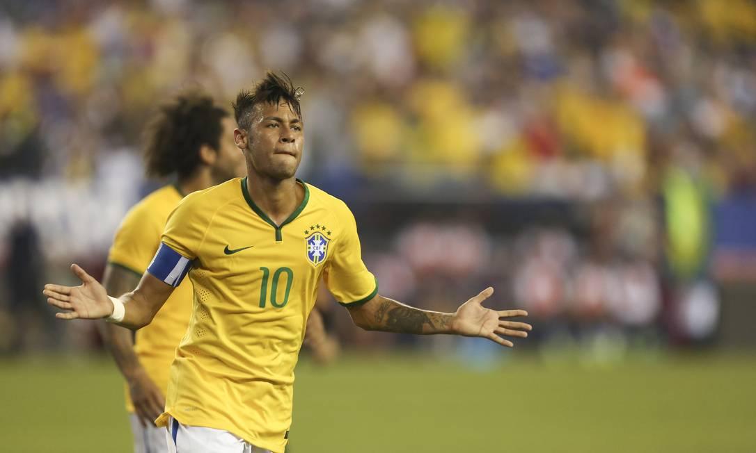 Neymar do Brasil comemora seu segundo gol contra os EUA Leo Correa / Leo Correa/Mowa Press