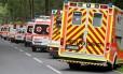 Equipes médicas foram até o local com ambulâncias