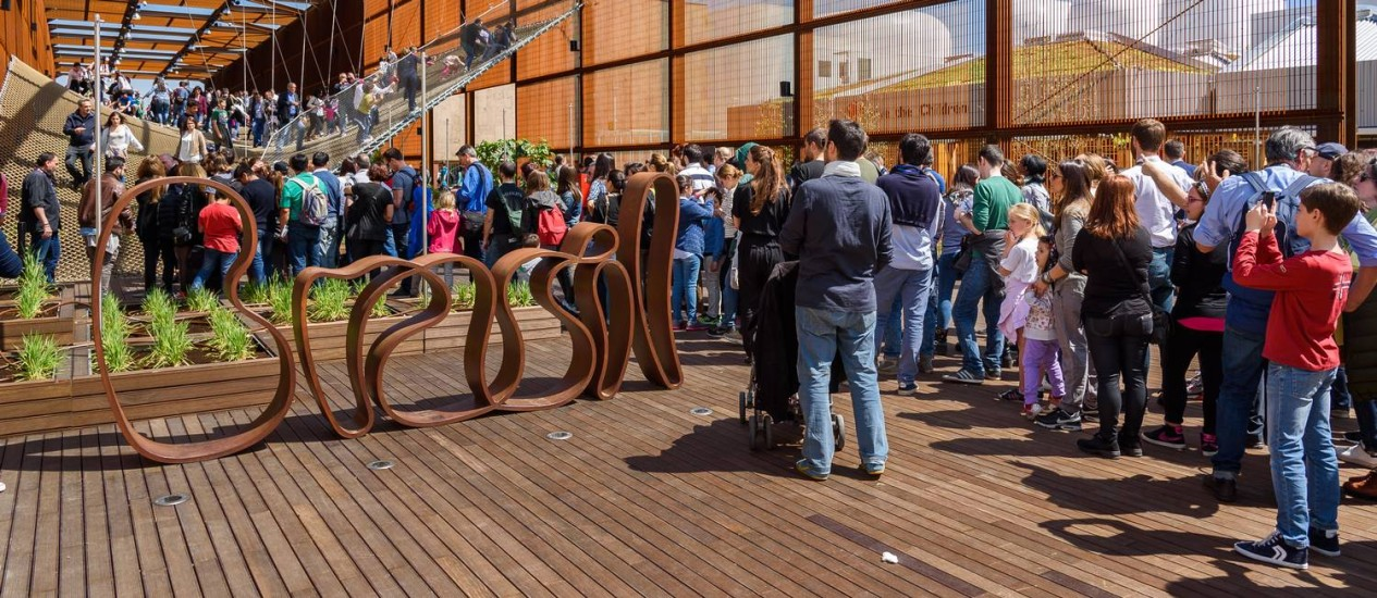 O pavilhão do Brasil na Expo 2015 é um dos destaques do evento que acontece em Milão até 31 de outubro Foto: Divulgação
