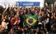 """BRASIL - Brasília - BSB - PA - 10/09/2015 - PA - Deputados lançam, no Salão Verde da Câmara dos Deputados, o """"Movimento Parlamentar Pró-Impeachment"""". Foto de Jorge William /Agência O Globo"""