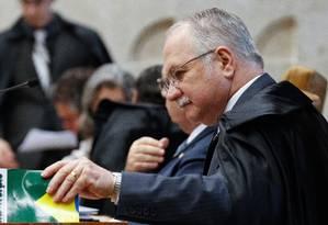 O ministro Edson Fachin durante a Sessão do Supremo Tribunal Federal (STF) Foto: ANDRE COELHO/ 09-09-2015 / Agência O Globo