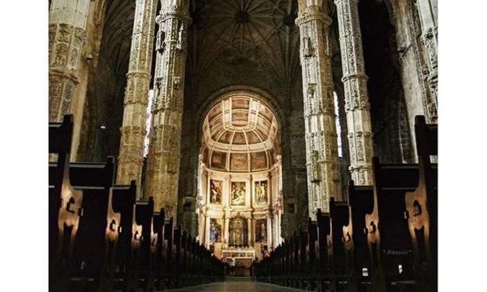 Igreja Do Mosteiro Dos Jeronimos, Lisboa Foto: @tonyrossini / Instagram