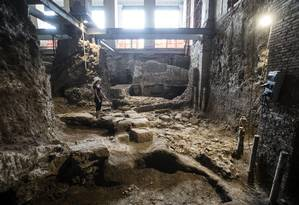 Antiga moradia tinha uma planta retangular, dividida em dois ambientes Foto: Angelo Carconi / AP