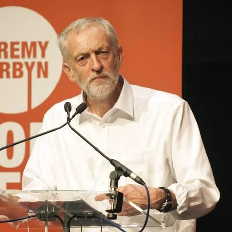 Jeremy Corbyn é candidato à liderança do Partido Trabalhista na Inglaterra Foto: LESLEY MARTIN / AFP