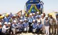 Dilma, durante visita às obras da Ferrovia Transnordestina, no Piauí: críticas a quem, segundo ela, quer o desastre