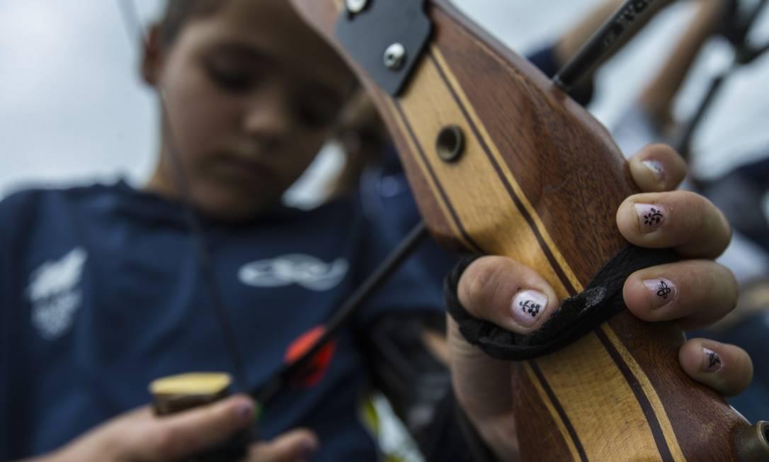 Sarah Paixão, 9 anos, começou cedo no esporte, que pratica no CT de Maricá Alexandre Cassiano / Agência O Globo