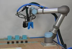 """Evolução robótica Foto: Divulgação / O braço robótico e sua """"prole"""". máquinas resultantes, feitas de cubinhos motorizados, têm performance melhorada a cada geração"""