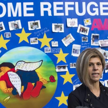 Tima Kurdi pede ação dos líderes europeus para lidar com crise migratória Foto: YVES HERMAN / REUTERS