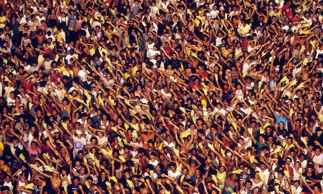 Público lotou o primeiro Rock in Rio, em 1985 Foto: Arquivo O Globo