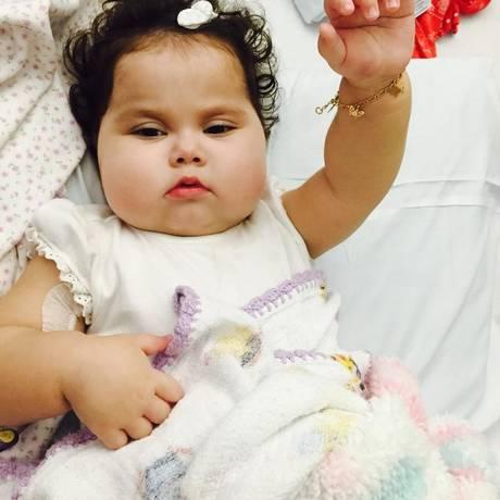 Sofia estava internada desde julho por conta de um vírus contraído após o transplante multivisceral Foto: Reprodução do Facebook