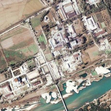 O reator de Yongbyon fornece plutônio para o programa de armas nucleares da Coreia do Norte Foto: Reprodução/Science Photo Library