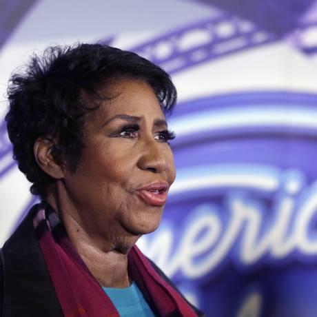 A lendária cantora Aretha Franklin em março, durante uma entrevista Foto: Carlos Osorio / AP