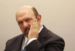 O empreiteiro Ricardo Pessoa, dono da UTC, presta depoimento na CPI da Petrobras Foto: Ailton de Freitas / Agência O Globo