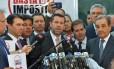 """Parlamentares da oposição lançam movimento """"Basta de Impostos"""""""