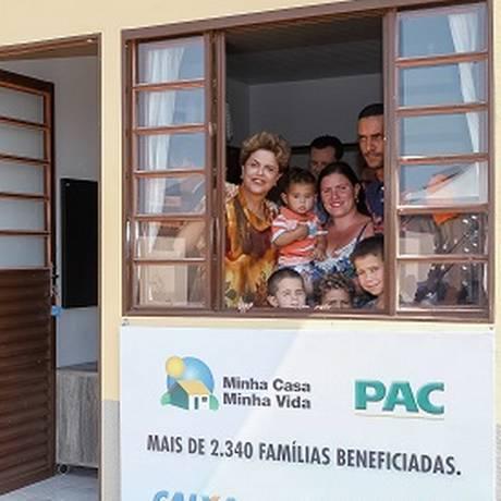 Presidente Dilma durante cerimônia de entrega de unidades habitacionais do programa Minha Casa Minha Vida Foto: Blog do Planalto / Divulgação