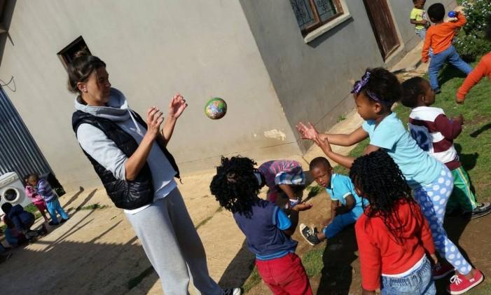 Paula Carneiro na crece na Cidade do Cabo, na África do Sul Foto: Arquivo Pessoal