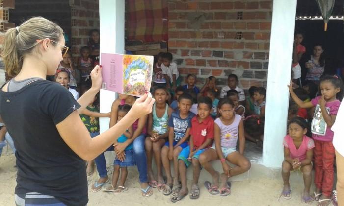 Projeto de incentivo à leitura no sertão de pernambuco Foto: Arquivo Pessoal