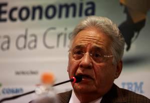 O ex-presidente Fernando Henrique no instituto FHC Foto: Fernando Donasci / Agência O Globo / 15/09/2015