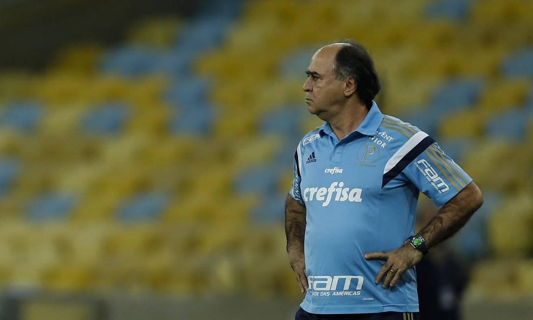 O técnico do Palmeiras, Marcelo Oliveira, observa o jogo contra o Fluminense no Maracanã Alexandre Cassiano / Agência O Globo