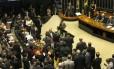 O plenário da Câmara nesta quarta-feira